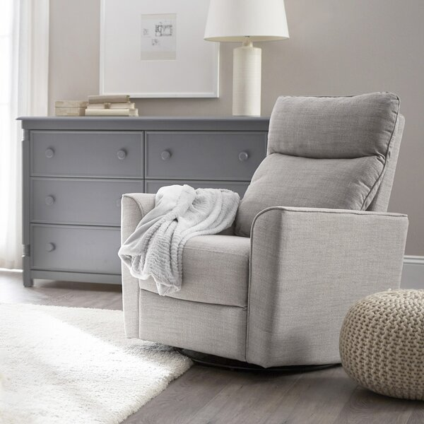 Soho Comfort Upholstered Swivel Glider by Karla Dubois