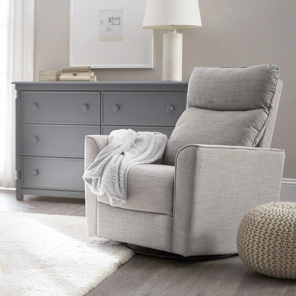 Soho Comfort Upholstered Swivel Glider by Karla Du