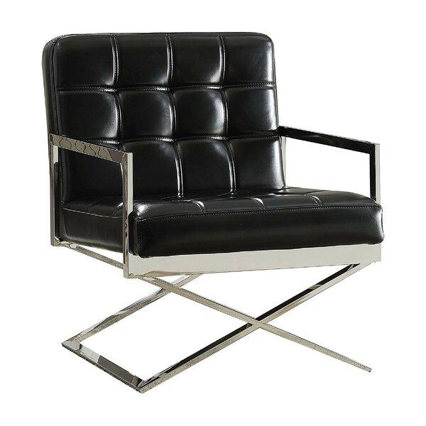 Shivers High Backrest Polyurethane Upholstered Metal Armchair by Orren Ellis Orren Ellis