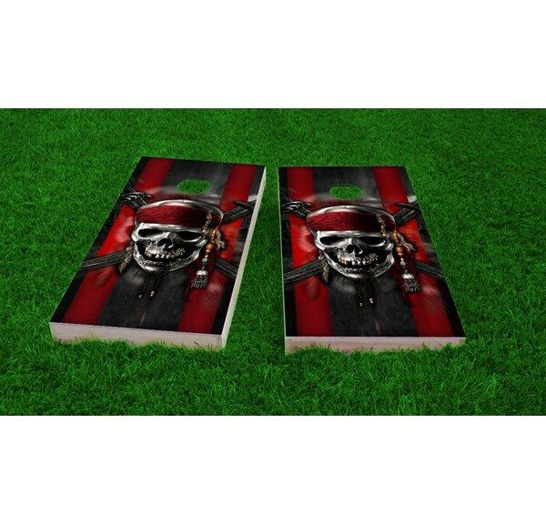 Pirate Theme Light Weight Cornhole Game Set by Custom Cornhole Boards