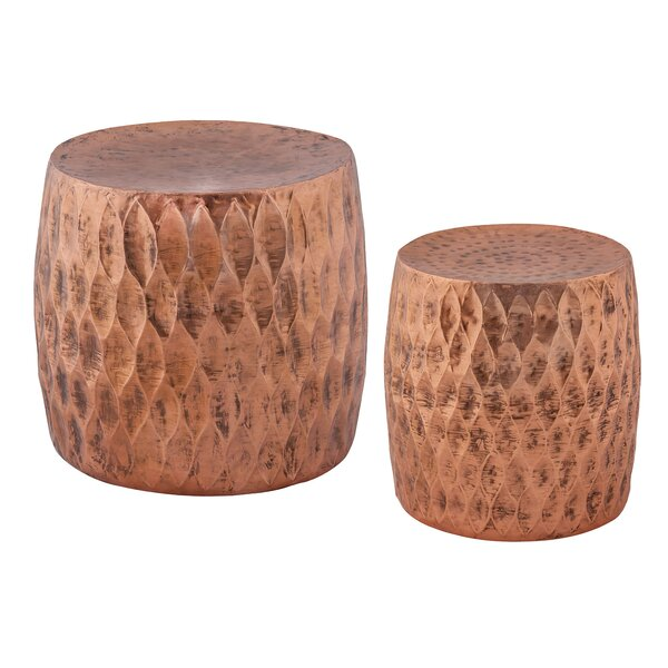 Brys 2 Piece Iron Accent Stool Set by Bloomsbury Market