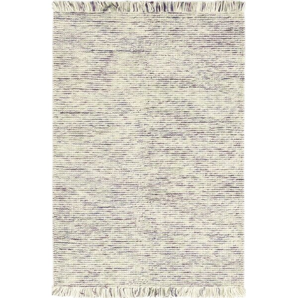 One-of-a-Kind Cyra Handwoven Wool White/Purple Indoor Area Rug by Isabelline