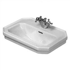1930 Series Ceramic 20 Wall Mount Bathroom Sink with Overflow by Duravit