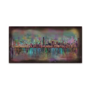 Chicago by Ellicia Amando Painting Print on Wrapped Canvas by Trademark Fine Art