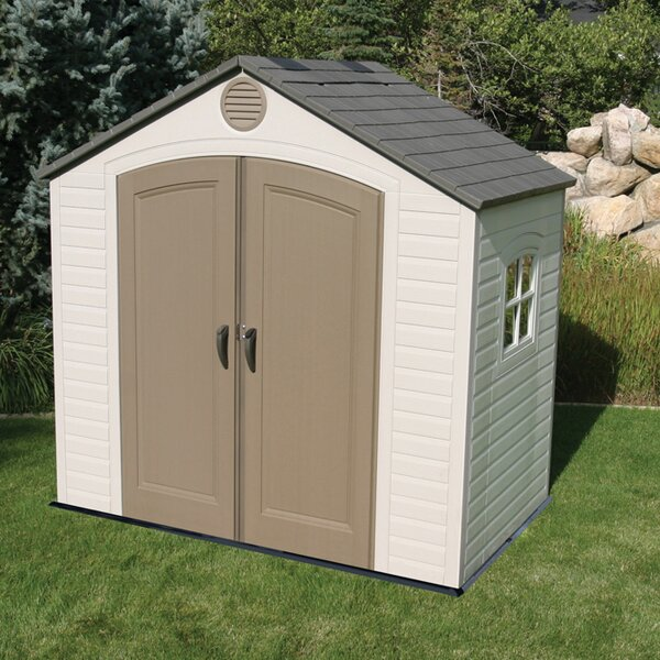 8 ft. W x 5 ft. D Plastic Storage Shed by Lifetime