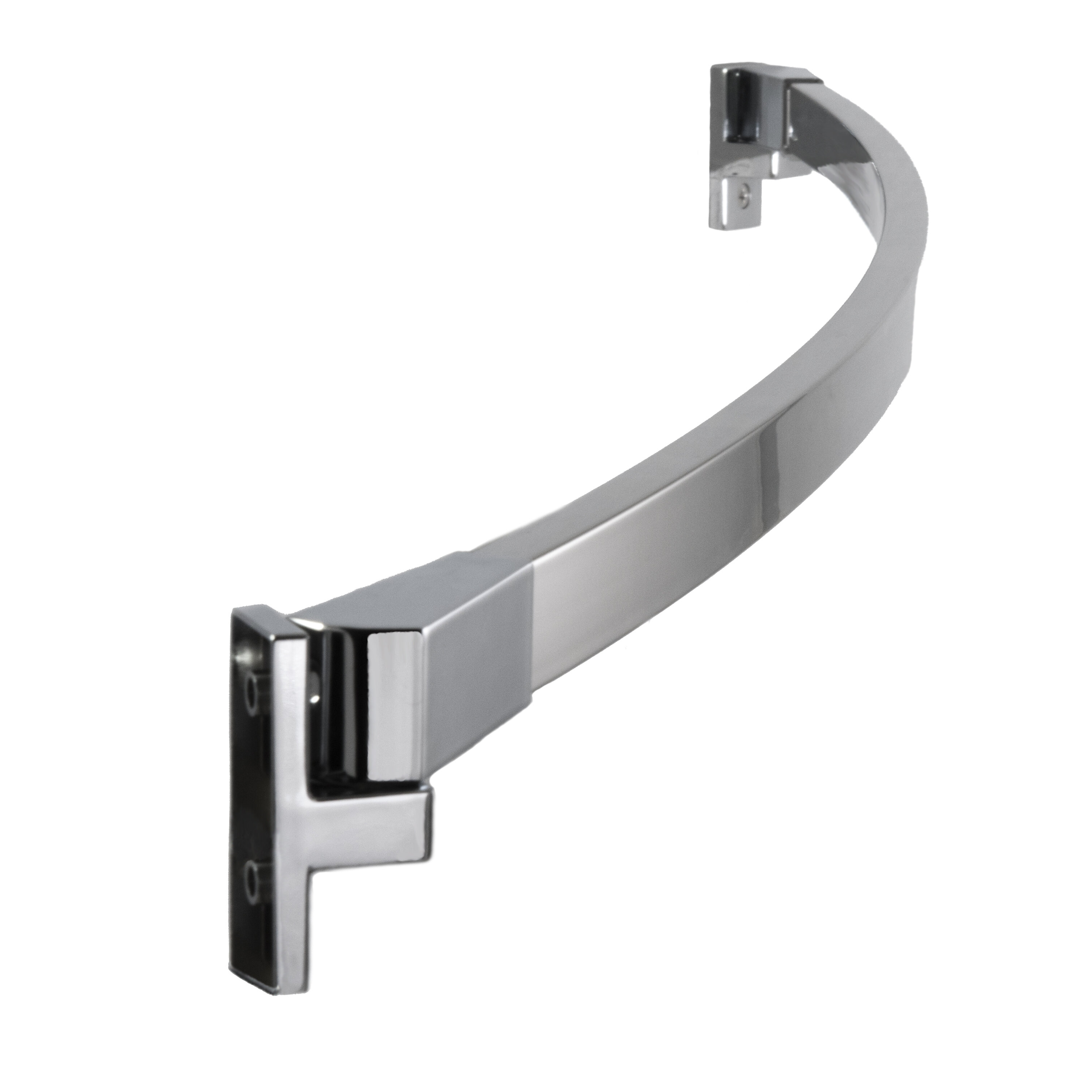 Adjule Curved Fixed Shower