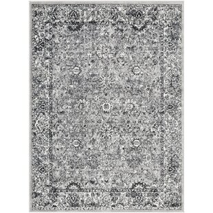Affordable Price Ana Distressed Traditional Hand-Tufted Beige/Black Area Rug ByWorld Menagerie