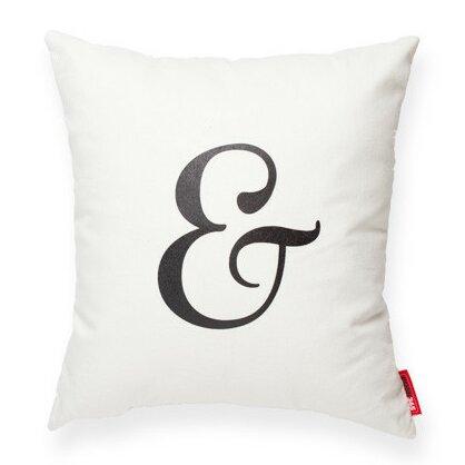 Symbol Ampersand Decorative Cotton Throw Pillow by Posh365