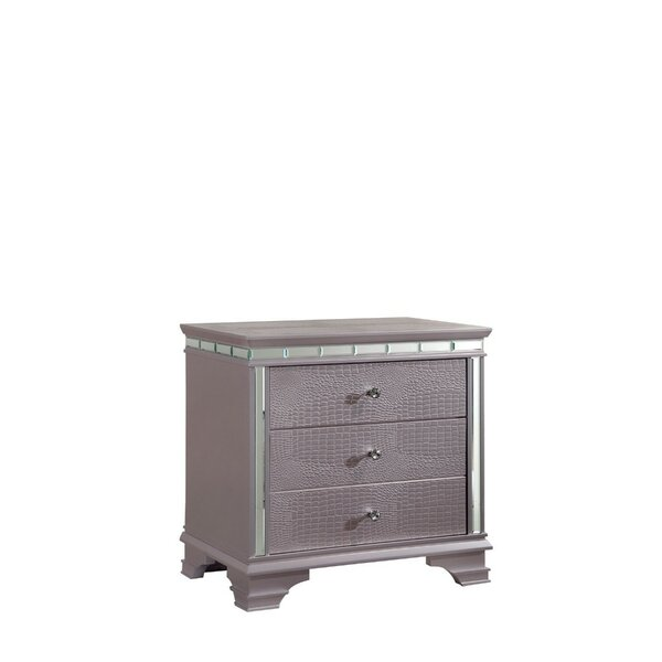 Ellar 3 Drawer Nightstand by Everly Quinn
