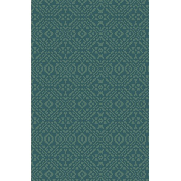 Cragin Teal Area Rug by Bungalow Rose