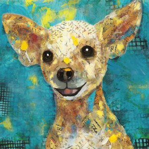 'Art Dog Chihuahua' by Sandy Doonan Graphic Art on Wrapped Canvas by Portfolio Canvas Decor