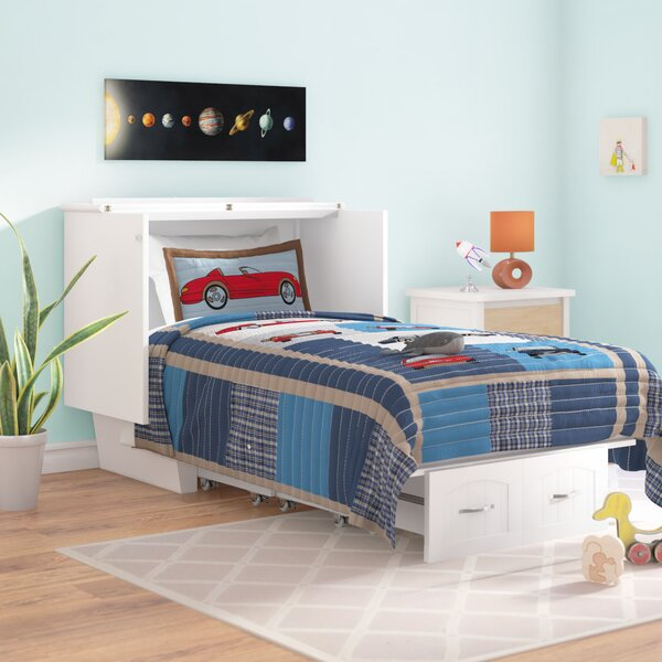 Charles Twin Storage Murphy Bed with Mattress by Viv + Rae