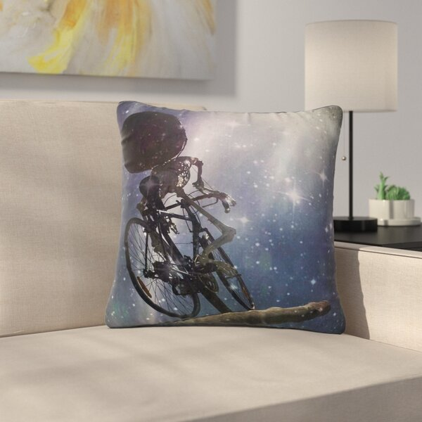 AlyZen Moonshadow No Rest for the Wicked Galactic Outdoor Throw Pillow by East Urban Home