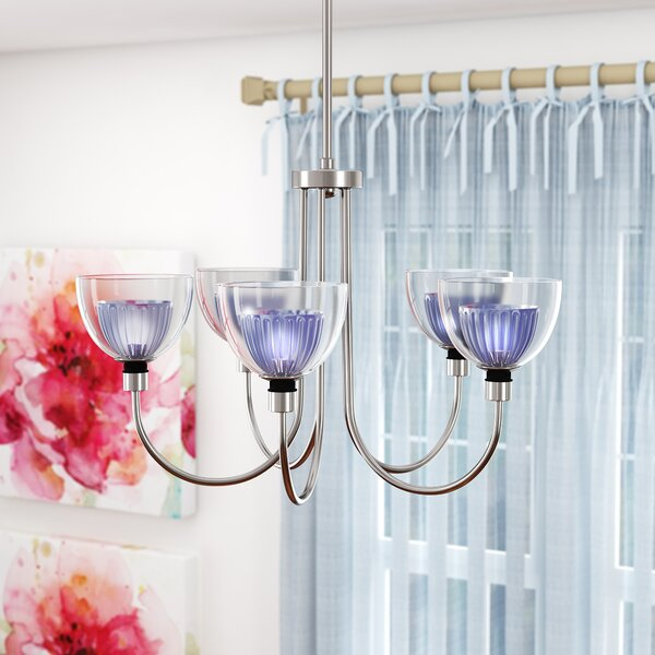 Brandt 5 - Light Shaded Classic / Traditional Chandelier by Ebern Designs Ebern Designs