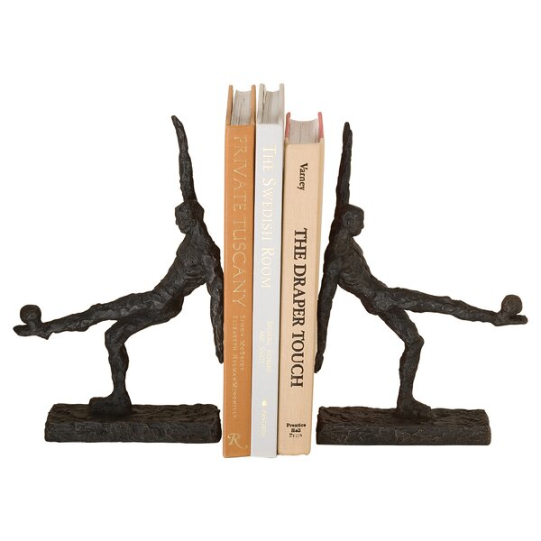Soccer Kick Bookends (Set of 2) by Global Views