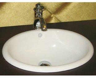 Buy luxury Ceramic Circular Drop-In Bathroom Sink with Overflow By Ronbow