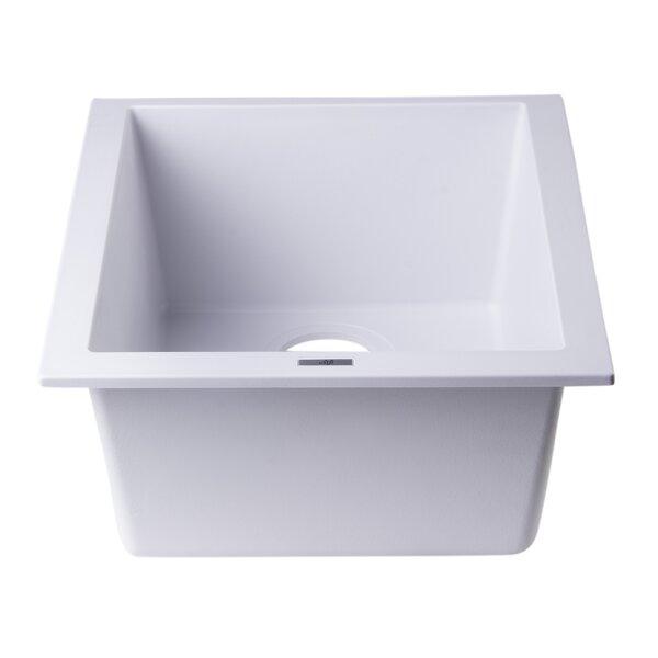 17.75 L x 16.13 W Undermount Rectangular Prep Kitchen Sink by Alfi Brand