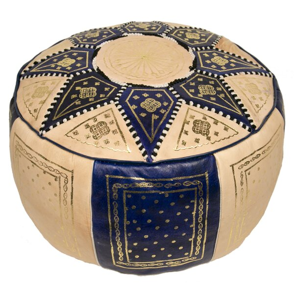 Moroccan Marrakech Leather Pouf By Casablanca Market