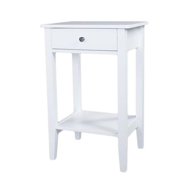 Eligia 1 - Drawer Nightstand In White By Winston Porter