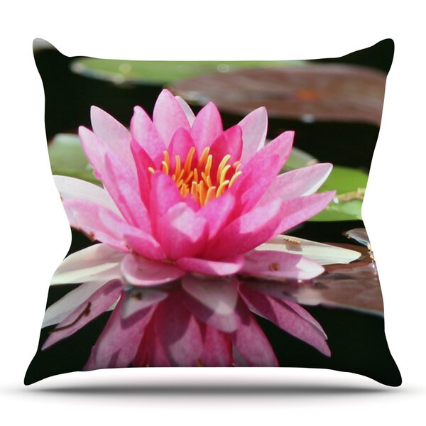 Water Lily by Angie Turner Outdoor Throw Pillow by East Urban Home