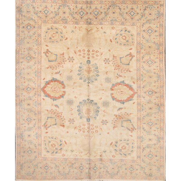One-of-a-Kind Canup Agra Egypt Oriental Hand-Knotted Wool Beige/Ivory Area Rug by One Allium Way