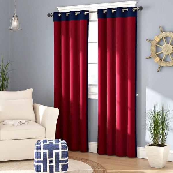 Annabella Solid Max Room Darkening Grommet Single Curtain Panel by Beachcrest Home