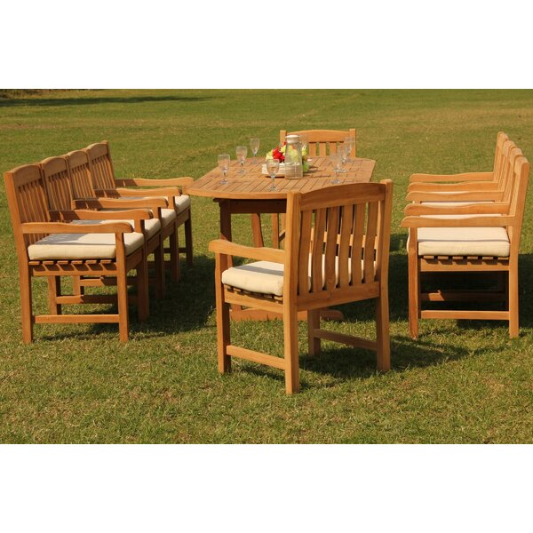 Prospe 11 Piece Teak Dining Set By Rosecliff Heights