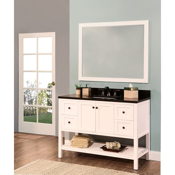 Hampton Bay 48 Single Bathroom Vanity with Mirror by NGY Stone & Cabinet