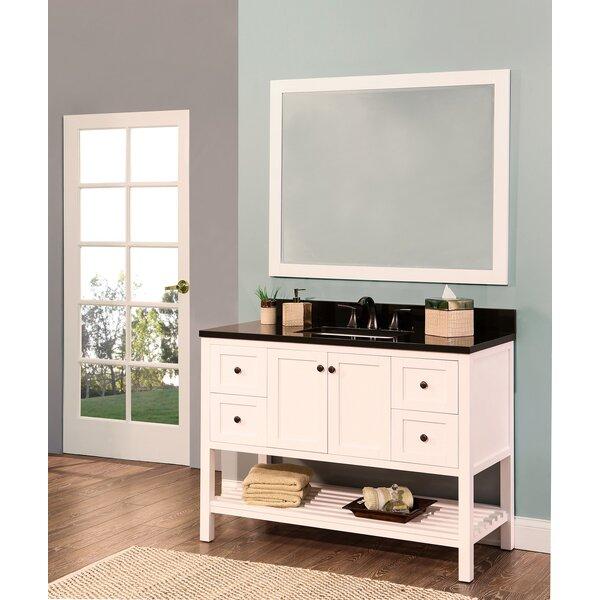 Hampton Bay 48 Single Bathroom Vanity with Mirror by NGY Stone & Cabinet