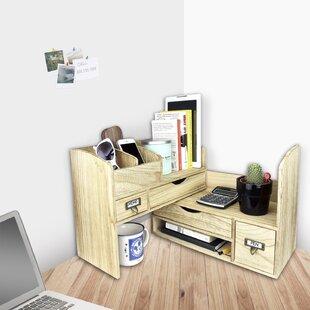 Superieur Riaria Adjustable Wooden Desktop Organizer Office Supplies Storage Shelf  Rack