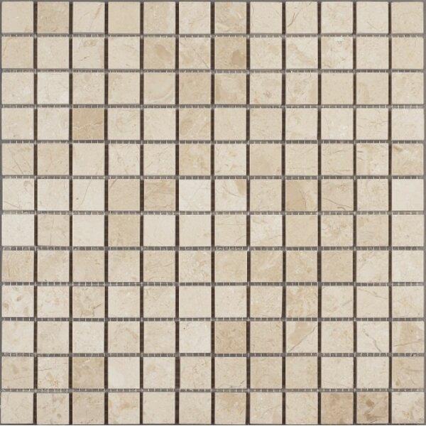1 x 1 Marble Mosaic Tile in Crema Nouva by Ephesus Stones
