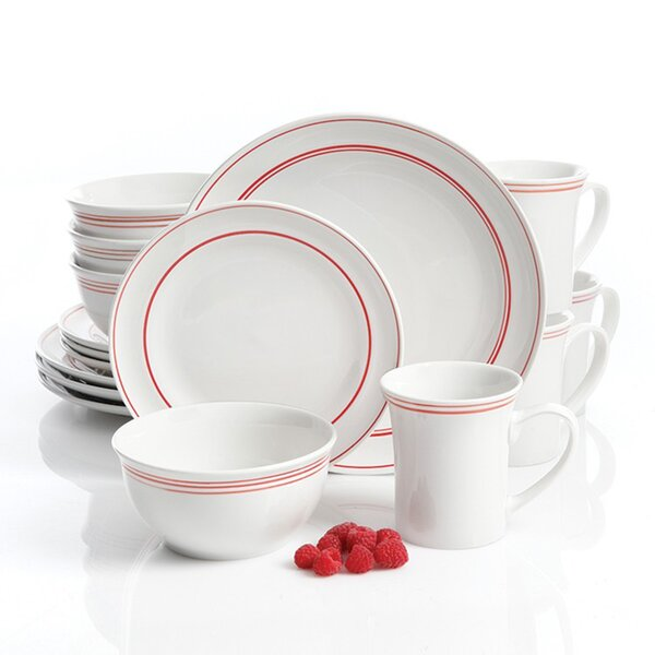 Butts 16 Piece Dinnerware Set, Service for 4 by Charlton Home