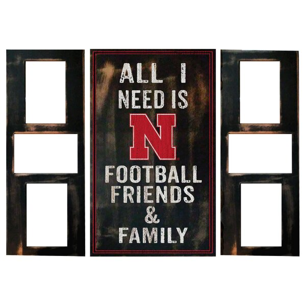 3 Piece NCAA All I Need Picture Frame Set by Fan Creations