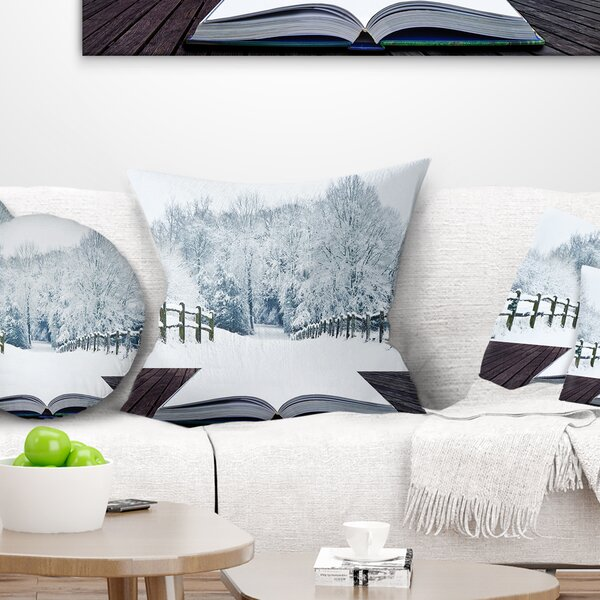 Landscape Winter Wonderland Pillow by East Urban Home