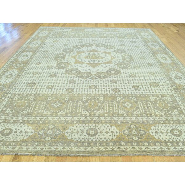 One-of-a-Kind Best Eptian Handwoven Grey Wool Area Rug by Isabelline