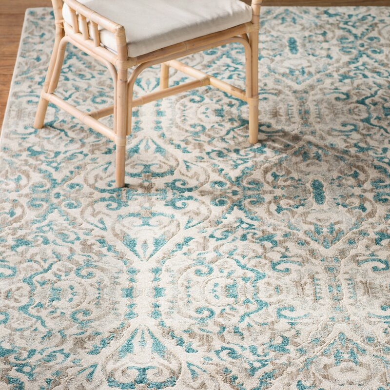 Bungalow Rose Saleya Turquoise Area Rug Amp Reviews Wayfair