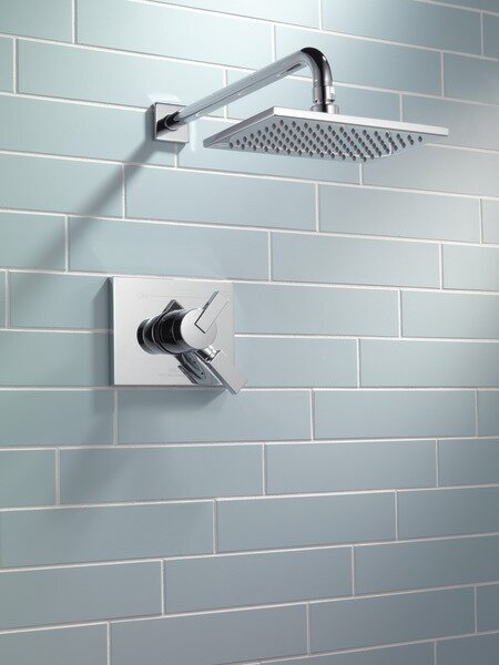 Vero 17 Series Shower Faucet Trim with Lever Handles and Monitor by Delta