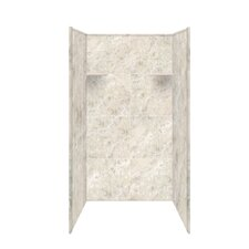 4 piece solid surface shower wall kit