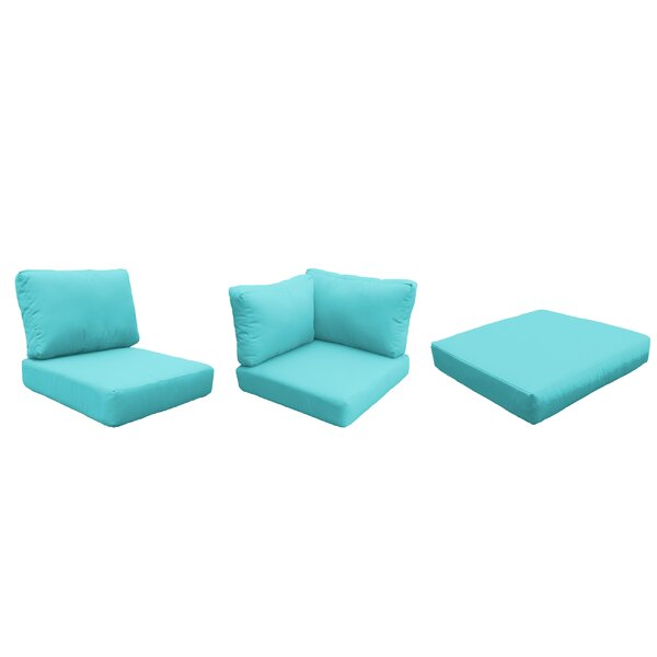 Eldredge Outdoor 12 Piece Lounge Chair Cushion Set by Rosecliff Heights