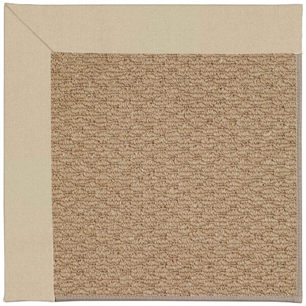 Lisle Machine Tufted Ecru/Brown Indoor/Outdoor Area Rug by Longshore Tides