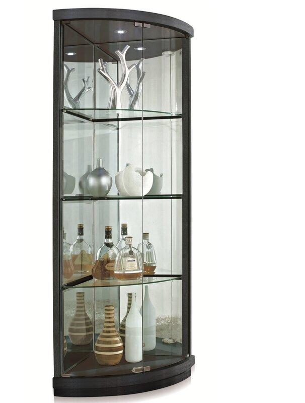 New Spec Lighted Corner Curio Cabinet & Reviews | Wayfair