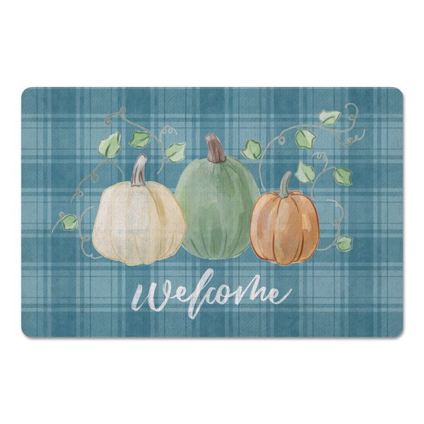 Cardero Welcome Pumpkins Kitchen Mat