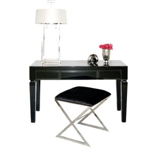 Beveled 3 Drawer Writing Desk by Worlds Away