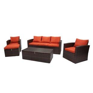 Quebec 5 Piece Sofa Set with Cushions ByIvy Bronx