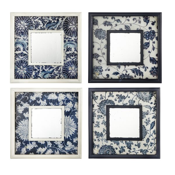 4 Piece Accent Mirror Set (Set of 4) by A&B Home