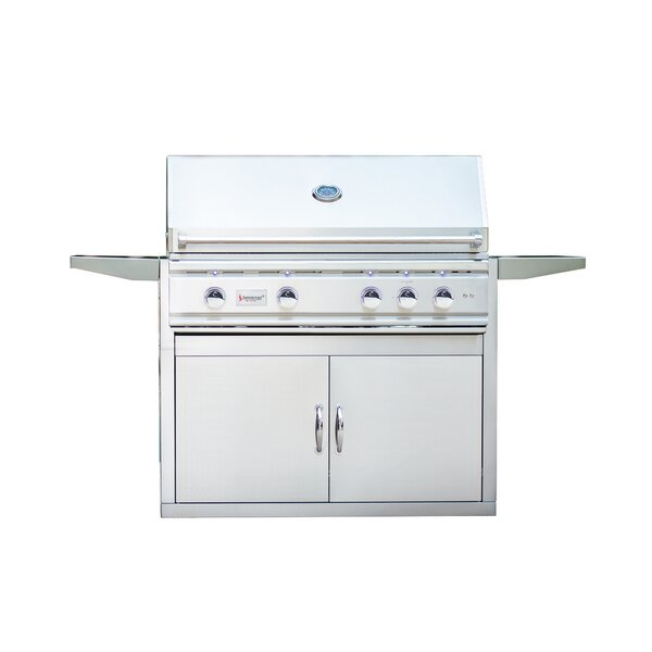 TRL Propane Gas Grill with Side Shelves by Summerset Professional Grills