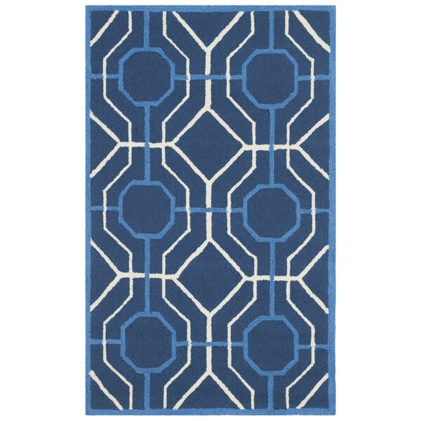 Naya Navy/Ivory Indoor/Outdoor Area Rug by Ivy Bronx