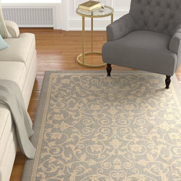 Santangelo Natural/Gray Outdoor Area Rug by Alcott Hill