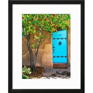 U0027Turquoise Door, Santa Fe, New Mexicou0027 Framed Photographic Print. U0027