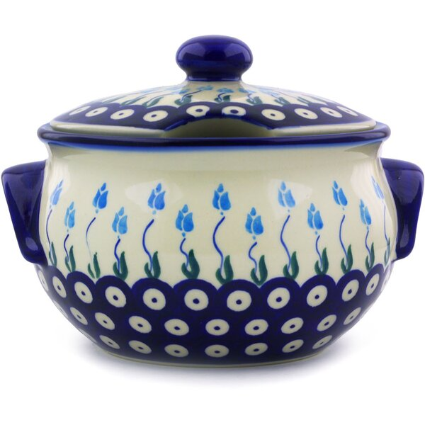 Floral Peacock Polish Pottery 1.25 qt. Tureen by Polmedia